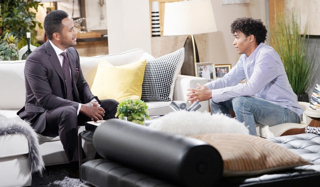 Nate, moses chat Y&R