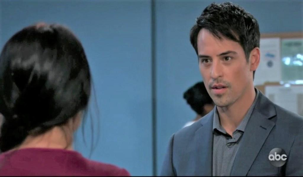 Nikolas questions Harmony in Spring Ridge General Hospital