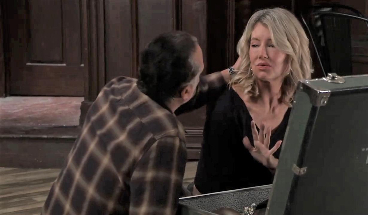 Nina pushes Mike away at Tan-O General Hospital