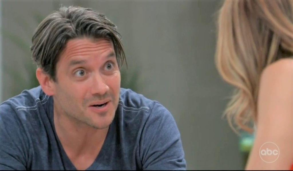 Olivia and Dante discuss Sam by pool General Hospital