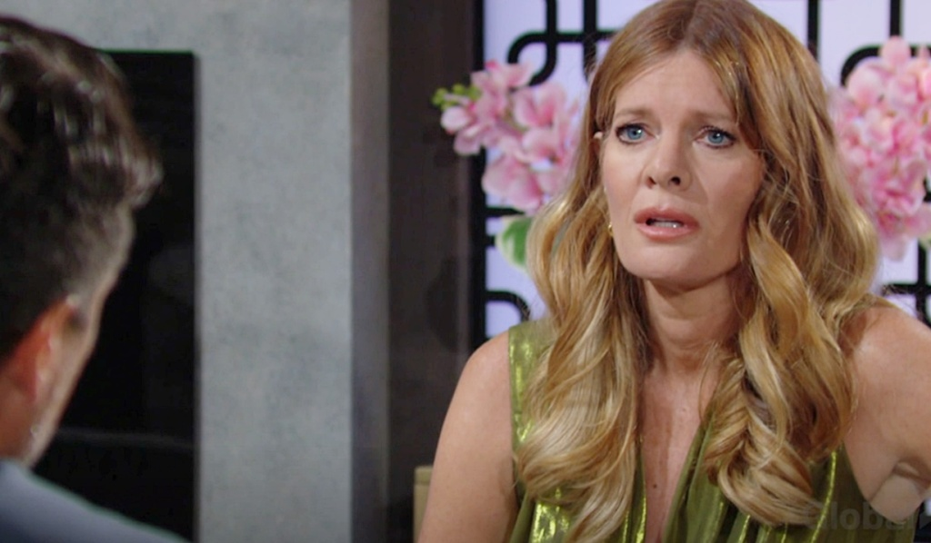 Phyllis worries about Jack to Nick Y&R