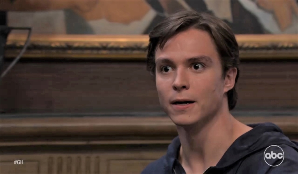 Spencer is shocked by call from Ryan at Wyndemere General Hospital