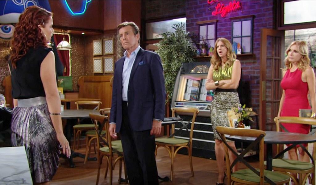 Sally, Jack, Phyllis, Lauren confrontation Y&R