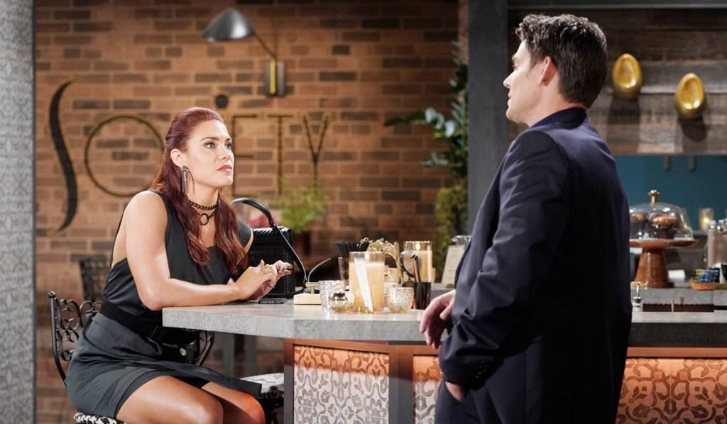 Sally, Adam talk bar Y&R