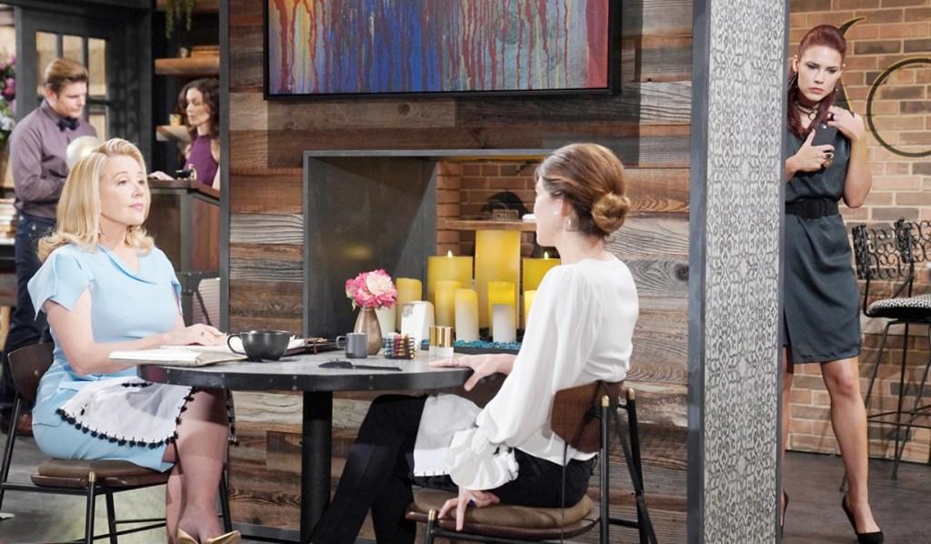 Sally eavesdrop Nikki, Victoria Y&R