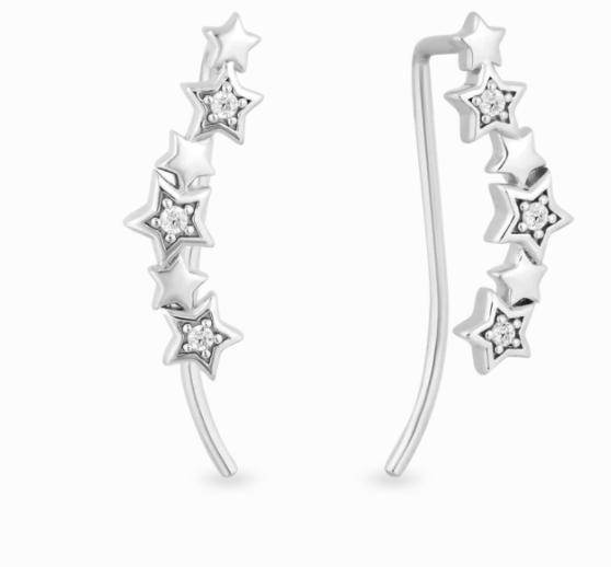 star dusted ear climbers Hallmark Diamonds