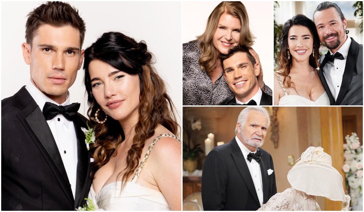 Steffy, Finn, Sheila, Thomas, Eric, Pam wedding album B&B