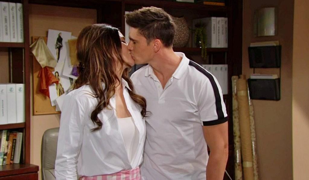 Steffy, Finn kiss office B&B