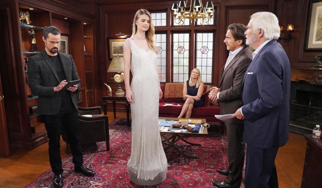 Thomas, Brooke, Ridge, Eric wedding gown B&B