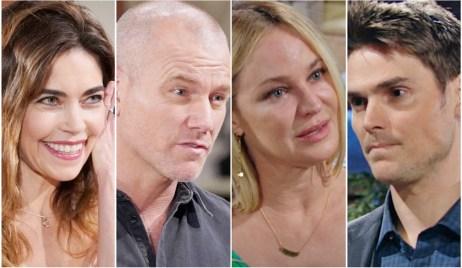 Victoria, Stitch, Sharon, Adam Y&R