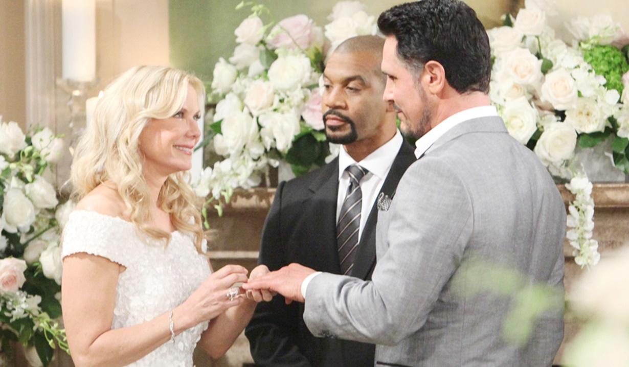 Brooke, Justin, Bill wedding B&B