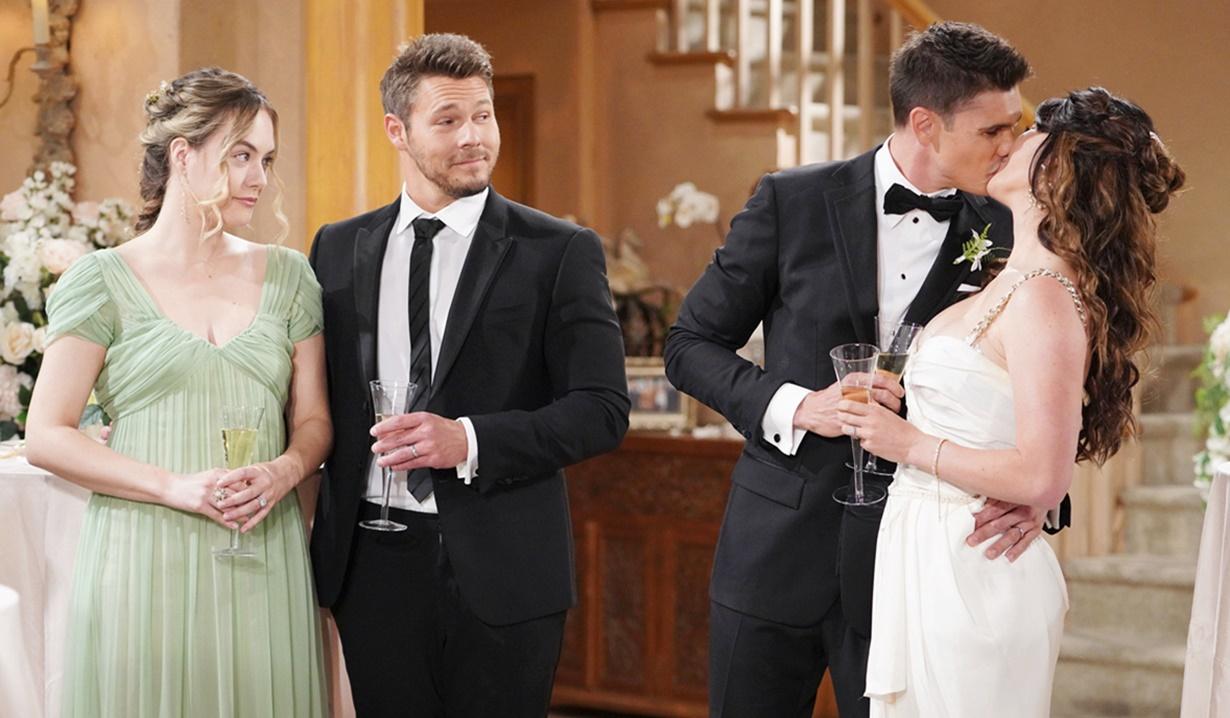 Hope, Liam, Finn, Steffy wedding B&B