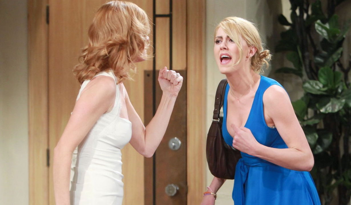 """Michelle Stafford, Yvonne Zima """"The Young and the Restless"""" Set CBS television City Los Angeles 05/02/12 ©Howard Wise/jpistudios.com 310-657-9661 Episode # 9923 U.S. Airdate 06/08/12"""
