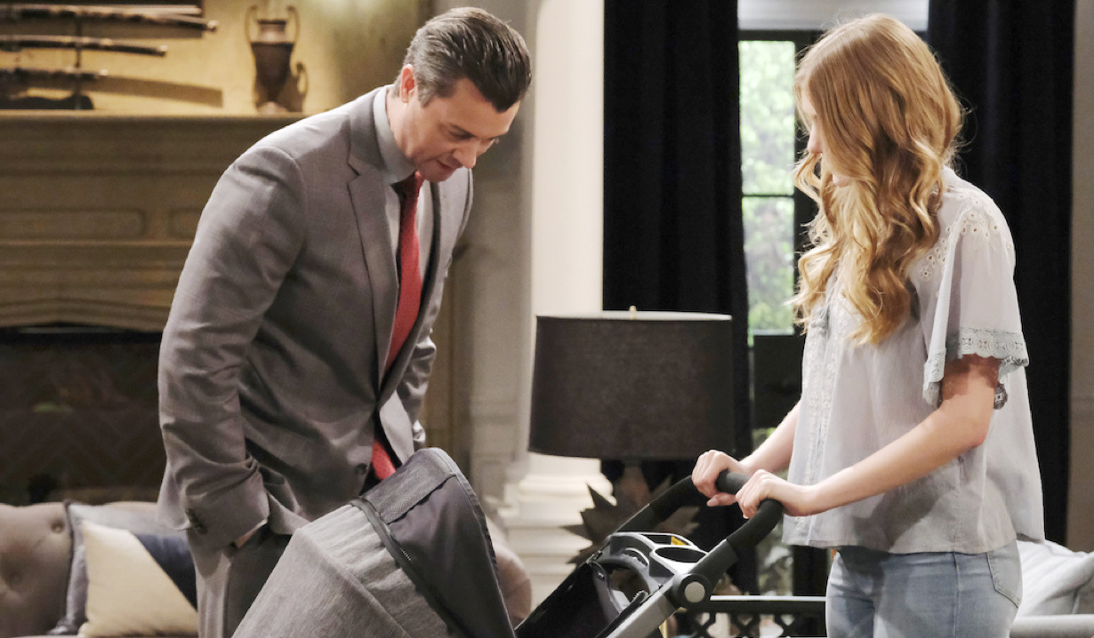 Allie and Henry visit EJ on Days of Our Lives