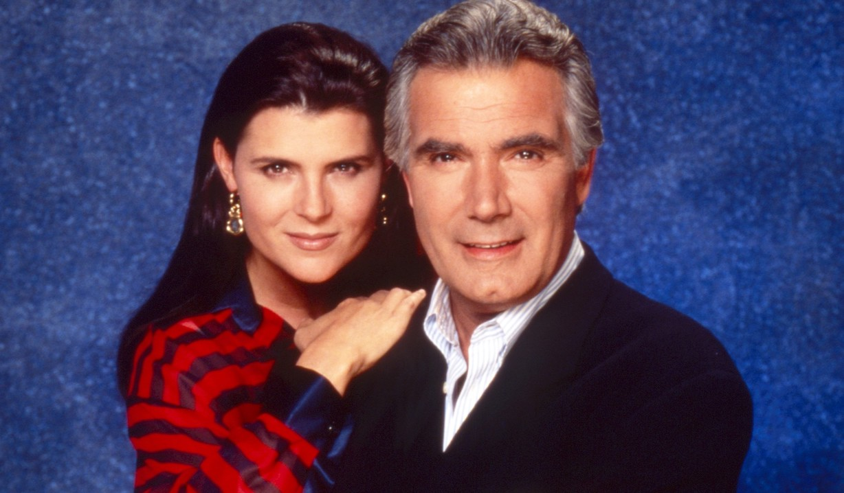 sheila eric THE BOLD AND THE BEAUTIFUL, from left: Kimberlin Brown, John McCook, 1990s, 1987– . /© CBS / Courtesy Everett Collection