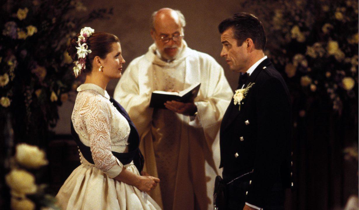 "sheila james wedding Kimberlin Brown, Ian Buchanan""Bold & Beautiful"" SetCBS StudiosLos Angeles, CA10/16/97©John Paschal/jpistudios.com310-657-9661"
