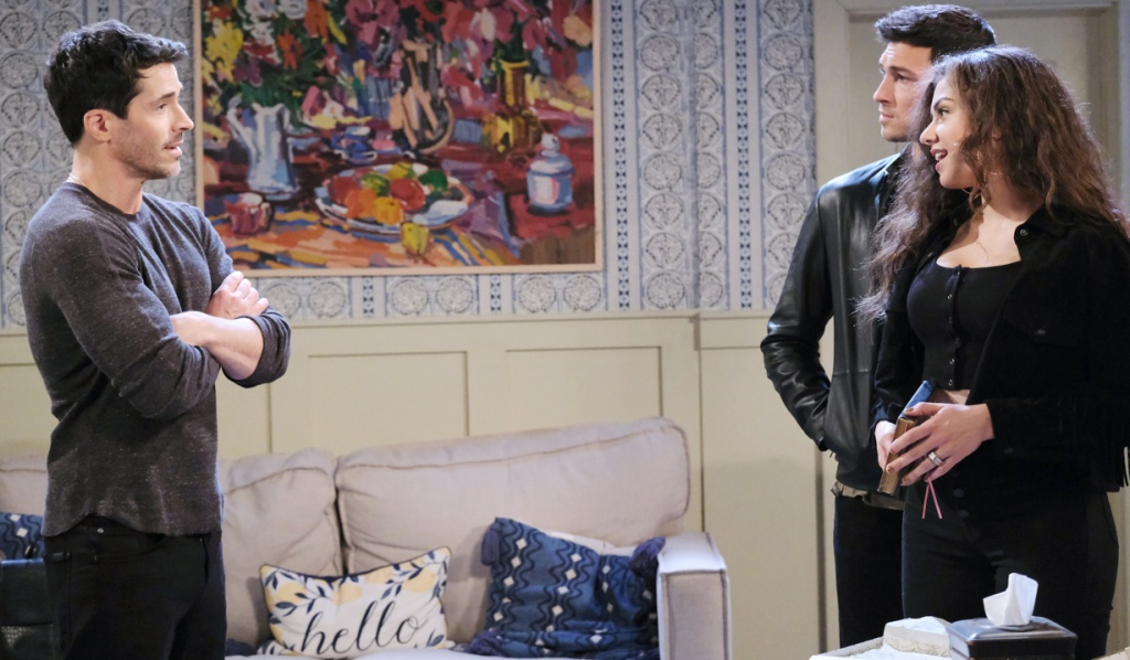 Ciara and Ben share their news with Shawn on Days of Our Lives