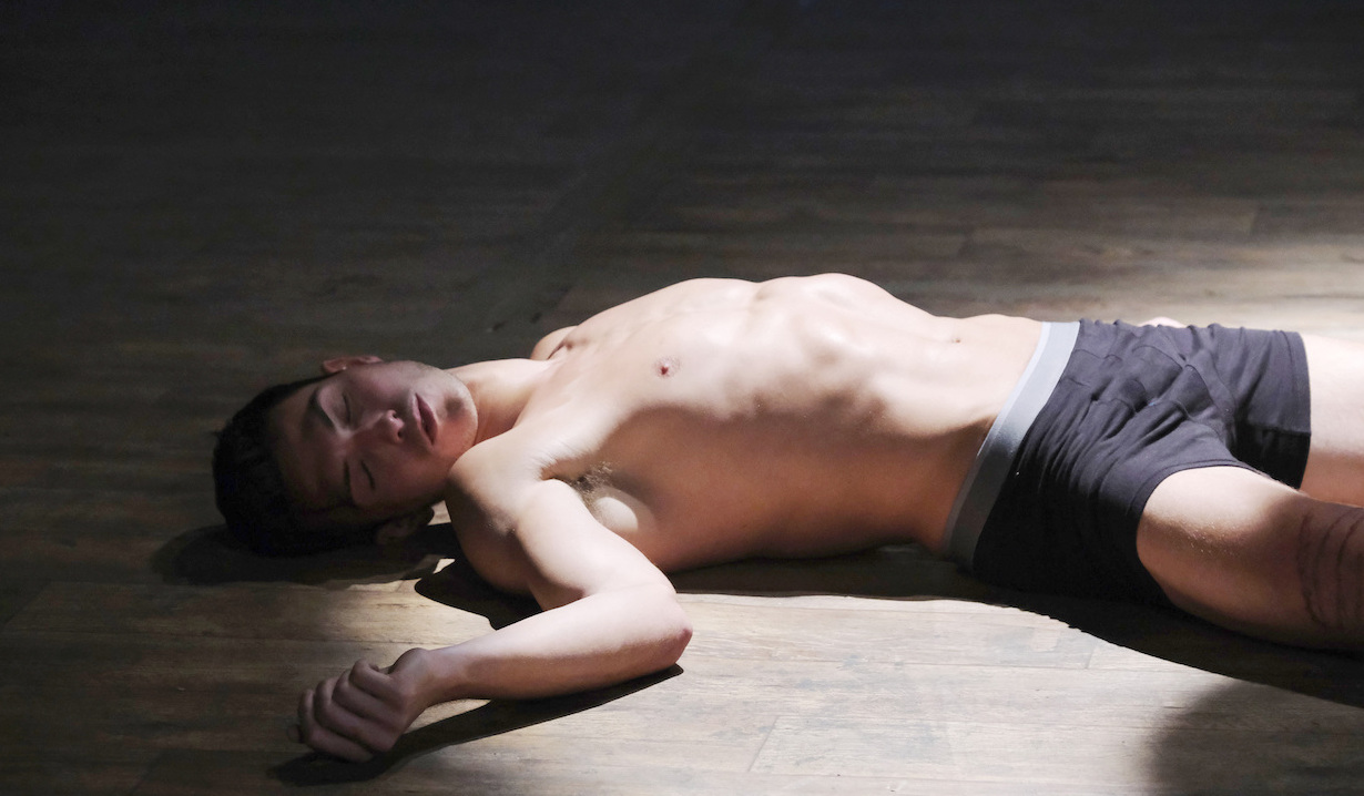 Ben Weston passed out on Days of our Lives