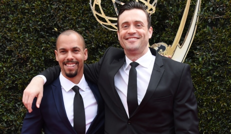 45th Annual Daytime Emmy Awards held at the Pasadena Civic Center on April 29, 2018 in Pasadena, CA. 29 Apr 2018 Pictured: Bryton James and Daniel Goddard.
