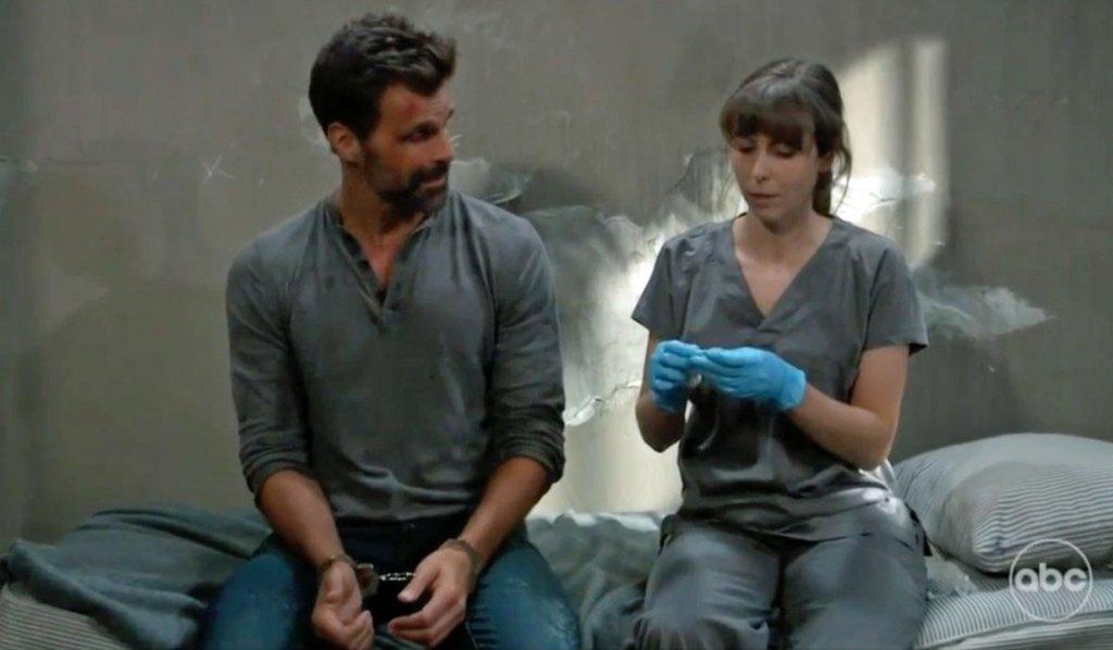 Nurse Chloe helps Drew GH