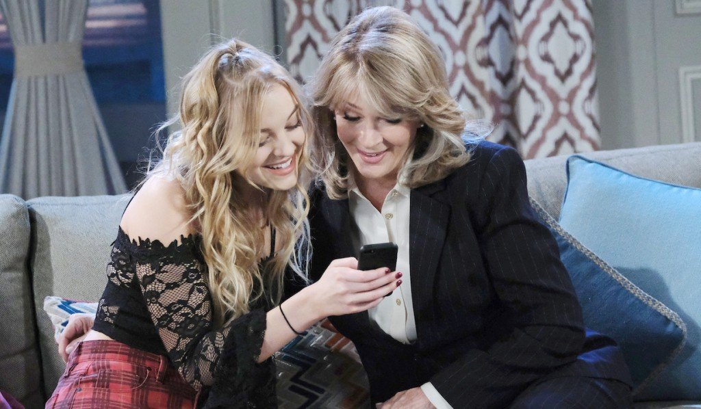 Claire and Marlena bond on Days of our Lives