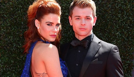 Courtney Hope, Chad Duell at arrivals for 44th Annual Daytime Emmy Awards - Arrivals 1, Pasadena Civic Center, Pasadena, CA April 30, 2017. Photo By: Priscilla Grant/Everett Collection
