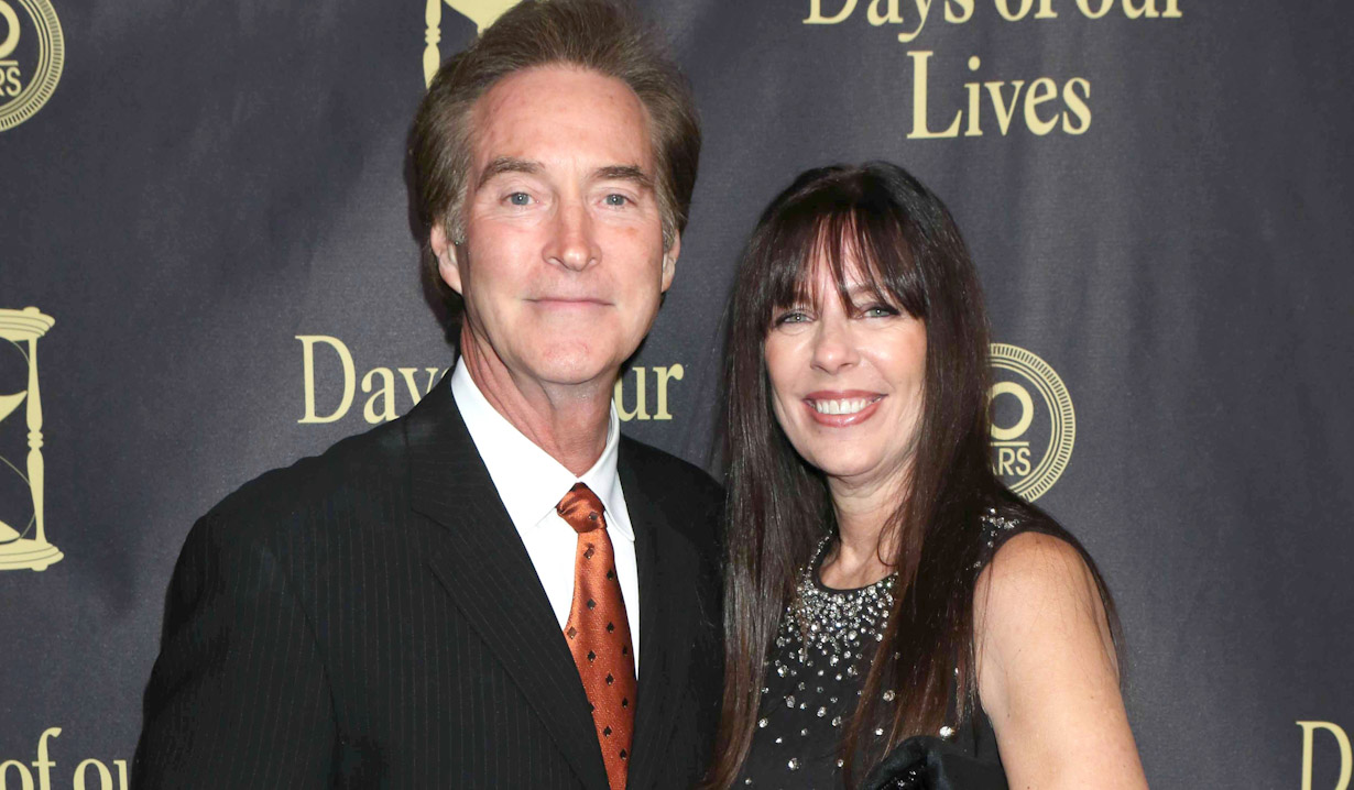 Drake Hogestyn and his wife Victoria at a Days event