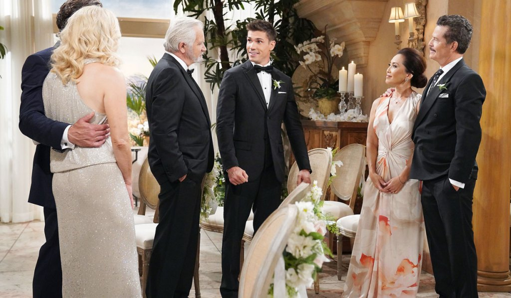 finn with family and in-laws wedding bb