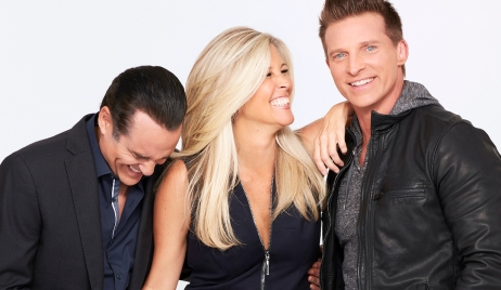 """sonny carly jason laughing GENERAL HOSPITAL - The Emmy-winning daytime drama """"General Hospital"""" airs Monday-Friday (3:00 p.m. - 4:00 p.m., ET) on the ABC Television Network. GH18(ABC/Craig Sjodin)MAURICE BENARD, LAURA WRIGHT, STEVE BURTON"""