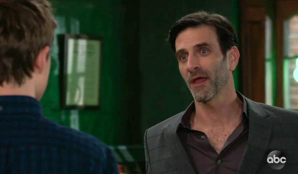 Joey Novak threatens Cam and Joss GH