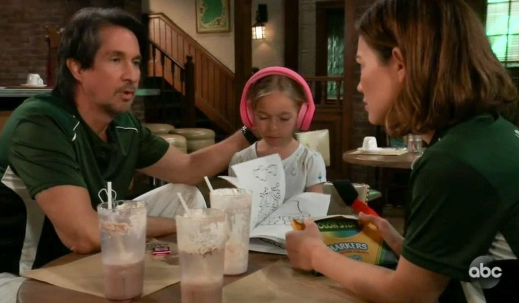 Liz, Violet and Finn together GH