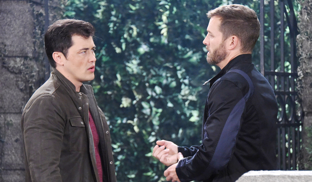 Paul Narita and Brady Black on Days of our Lives