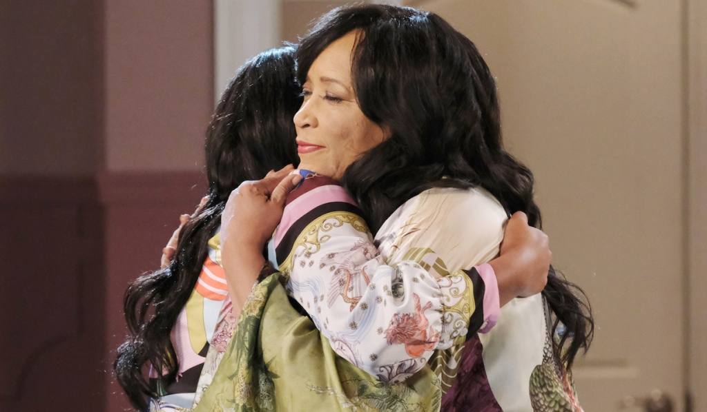 Paulina and Chanel embrace on Days of Our Lives