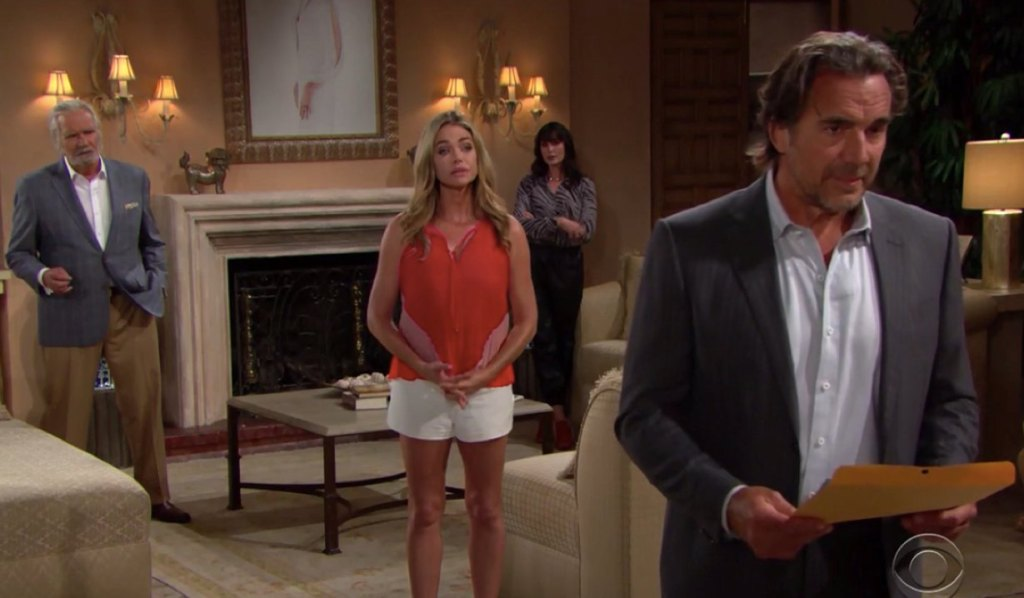 Ridge receives divorce papers from Carter on Bold and Beautifl