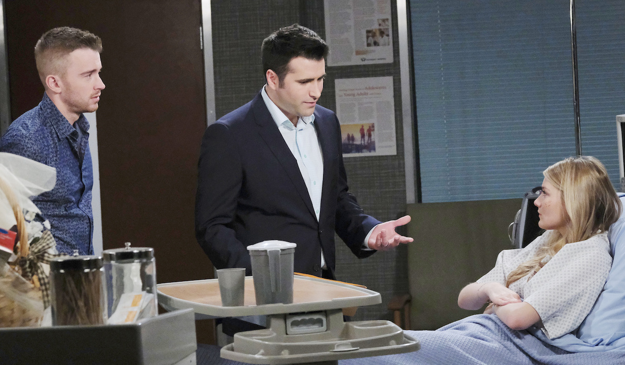 Will Horton and Sonny Kiriakis talk to Allie Horton in hospital on Days of our Lives