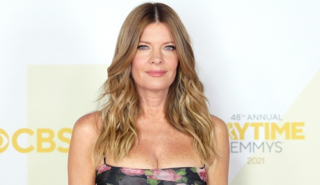young restless michelle stafford adopts dog rufus photo