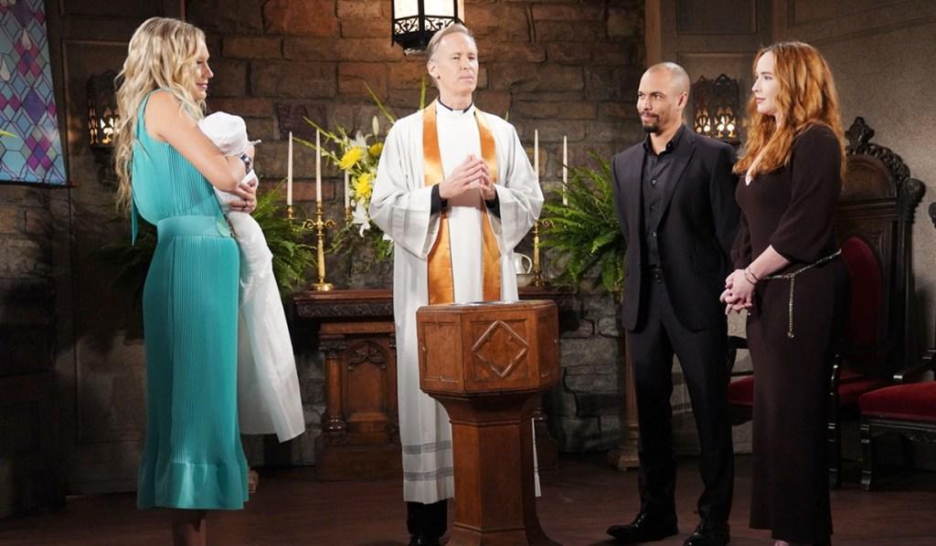 Abby, Devon, Mariah baptize Y&R