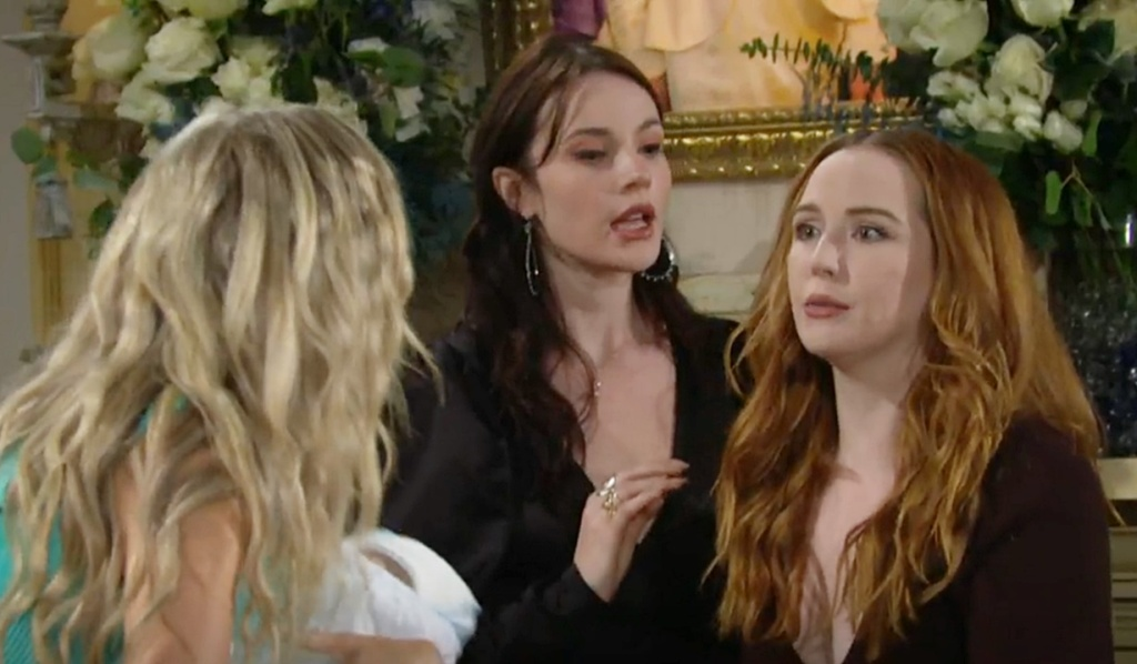 Abby, Tessa, Mariah Y&R scene