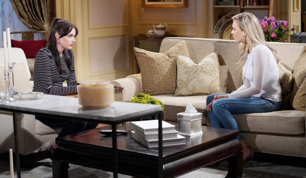 Abby questions Tessa Y&R