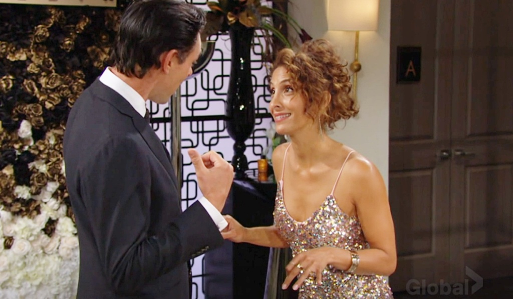 Billy, Lily laughing Y&R