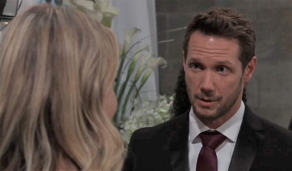 Brando tells Gladys he's worried about the Novaks in chapel General Hospital