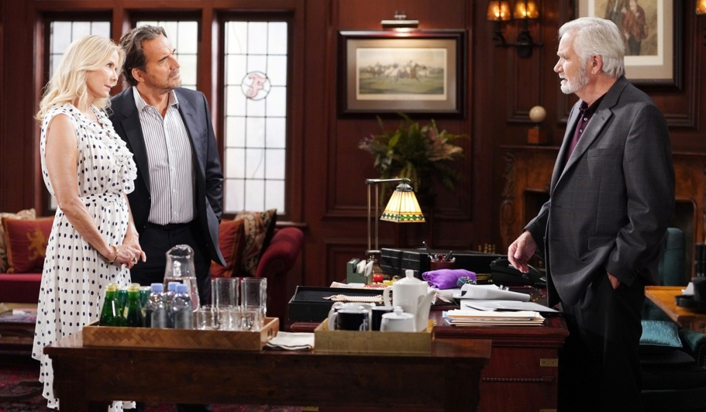 Brooke, Ridge confront Eric office B&B