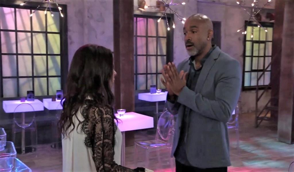 Curtis warns Sam off at The Savoy General Hospital