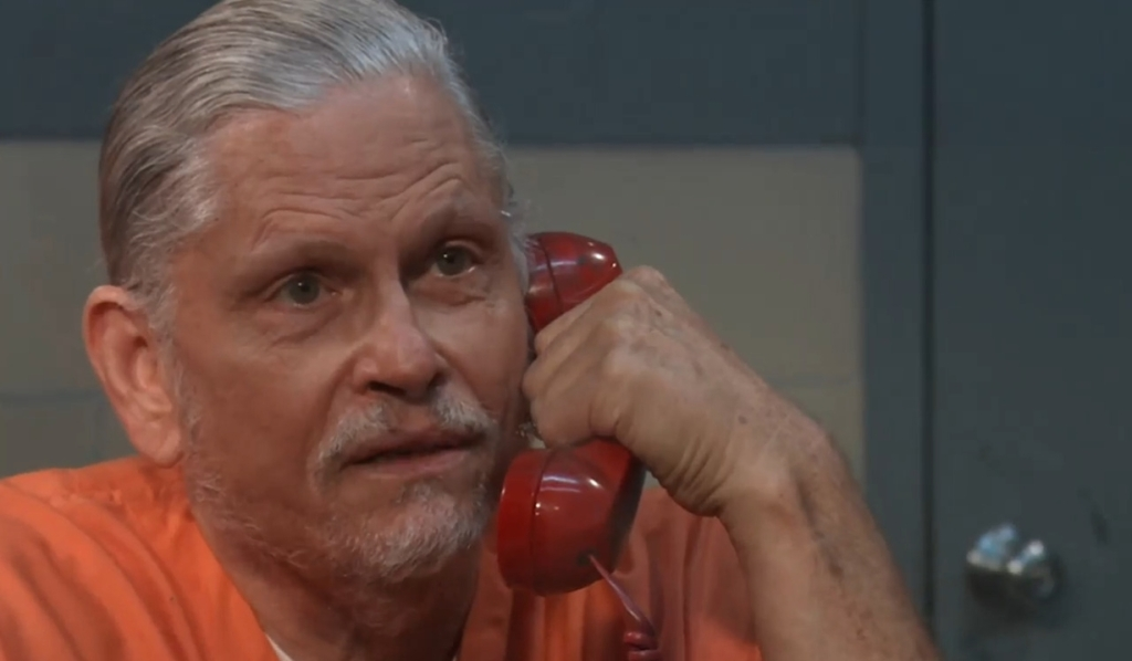 Cyrus talks taking down the Corinthos family in prison General Hospital