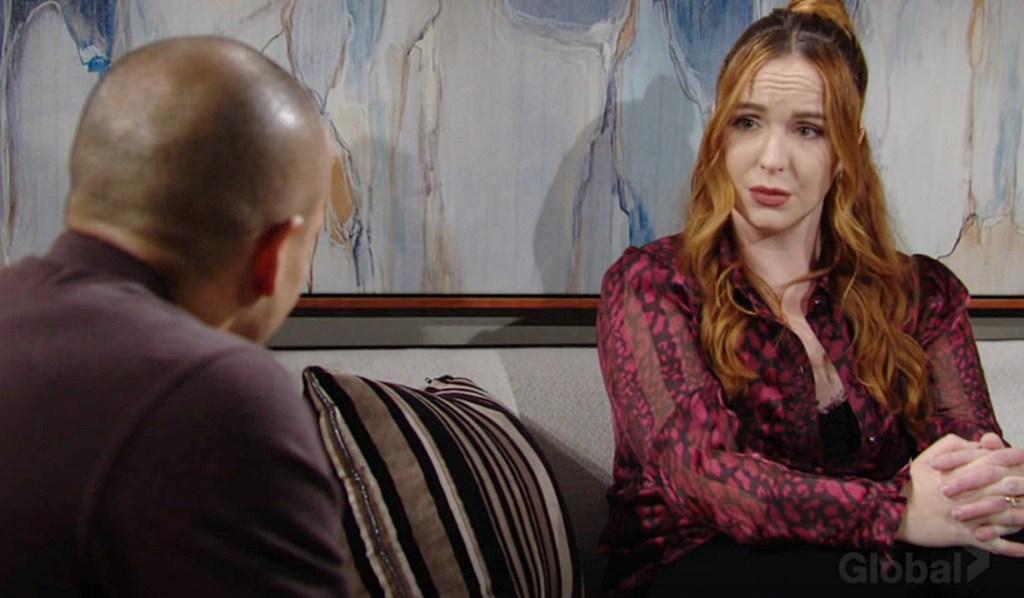 Devon, Mariah talk Y&R