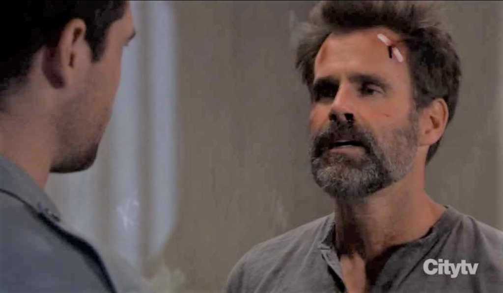 Drew negotiates with Russell in cell General Hospital