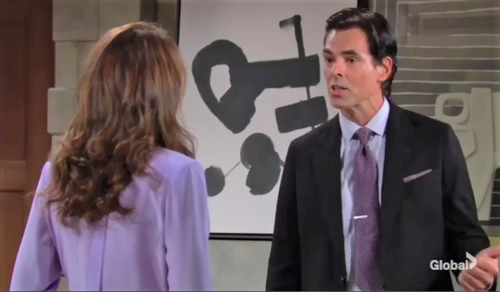 Billy and Lily argue Ashland at home Y&R