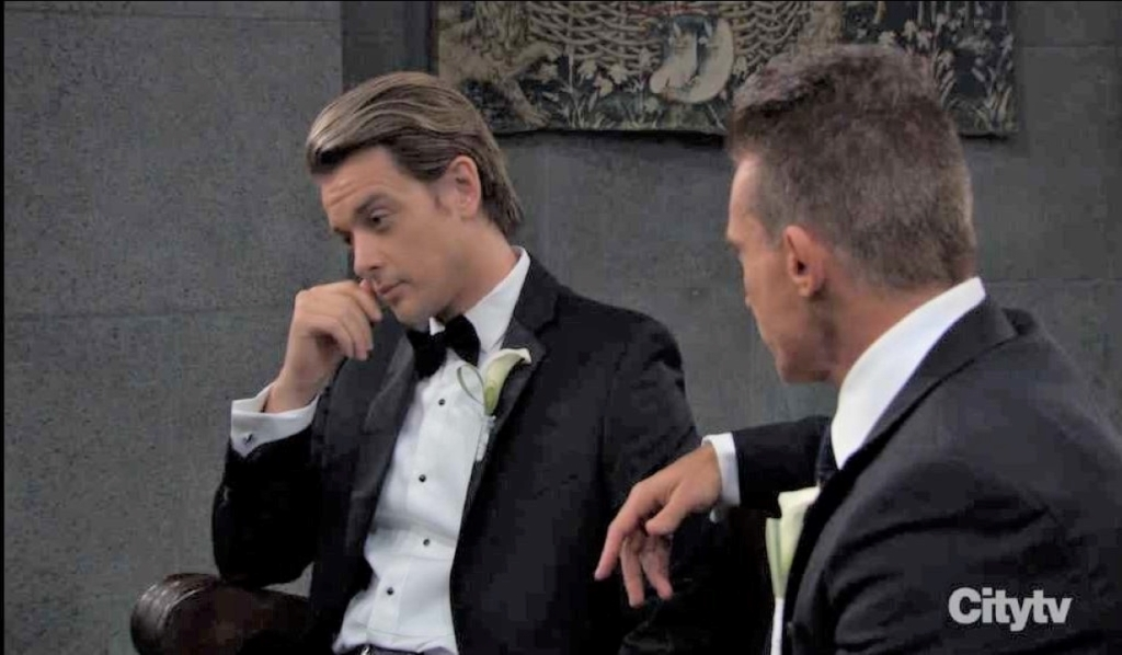 Michael and Jason discuss the wedding in chapel General Hospital