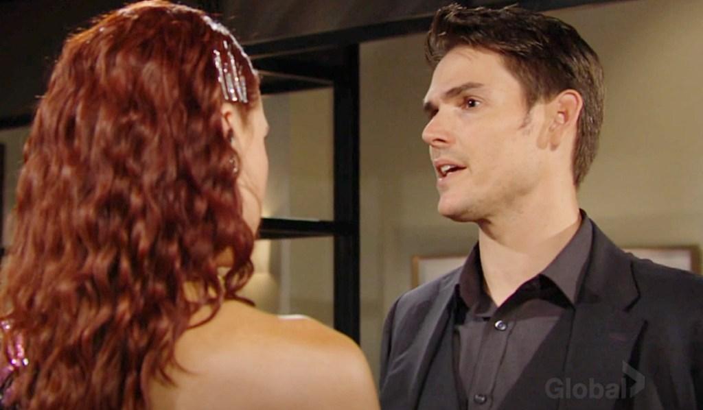 Sally, Adam watches Billy Y&R