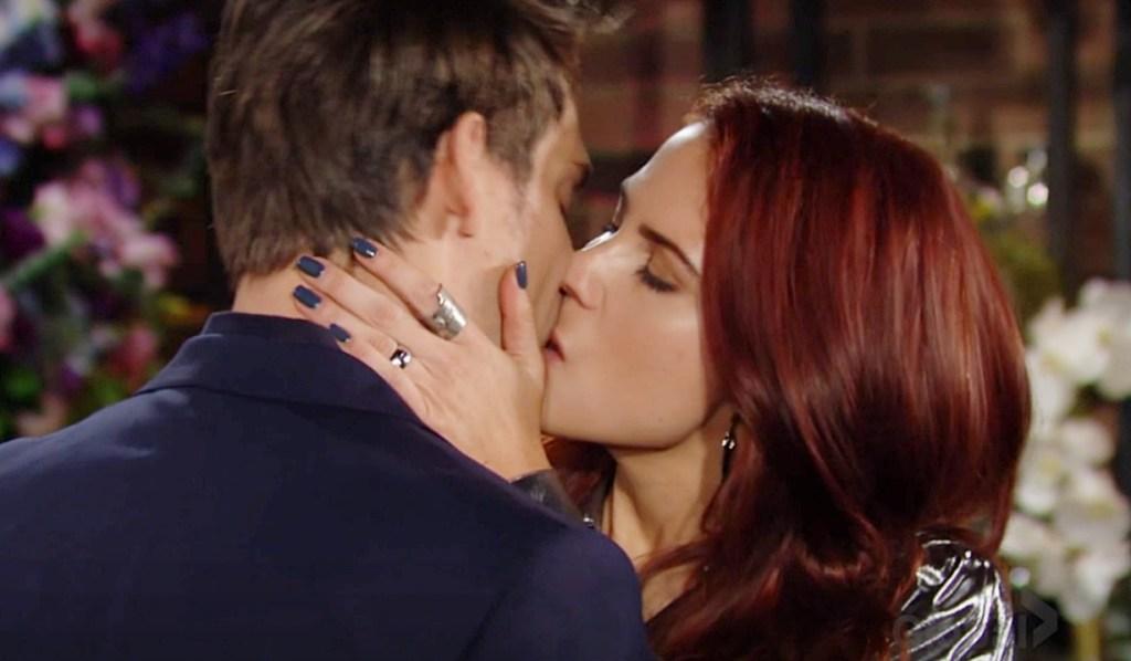 Sally fantasy kiss adam Y&R